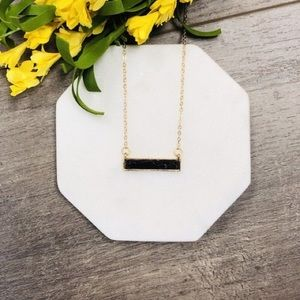 Black and gold bar necklace